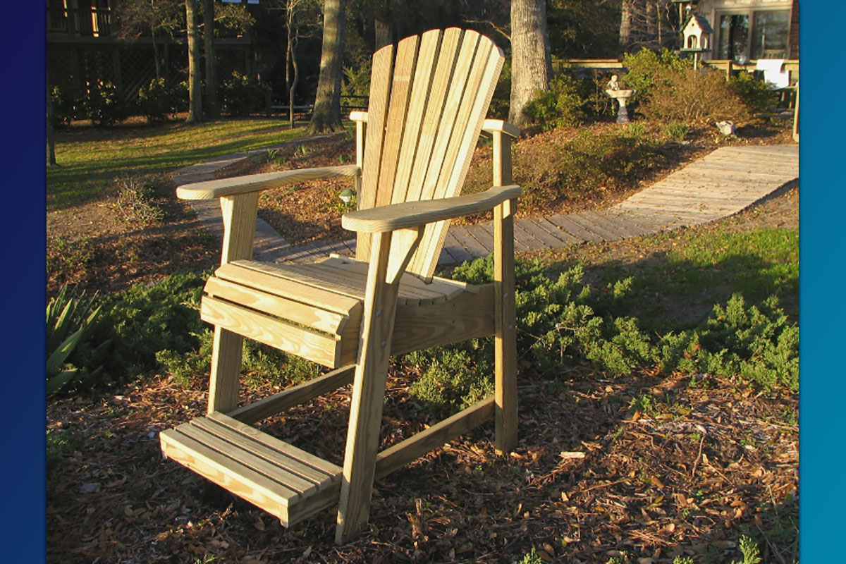 Adirondack Balcony Pub Chair (Unfinished Natural)