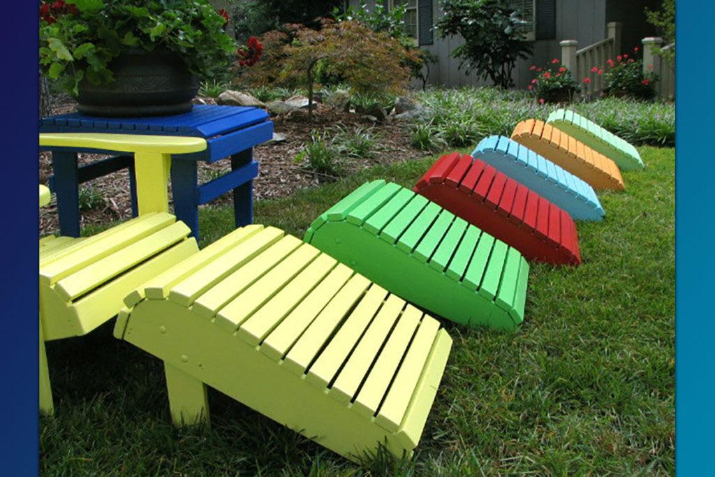 Adirondack Footrest (Painted Series)