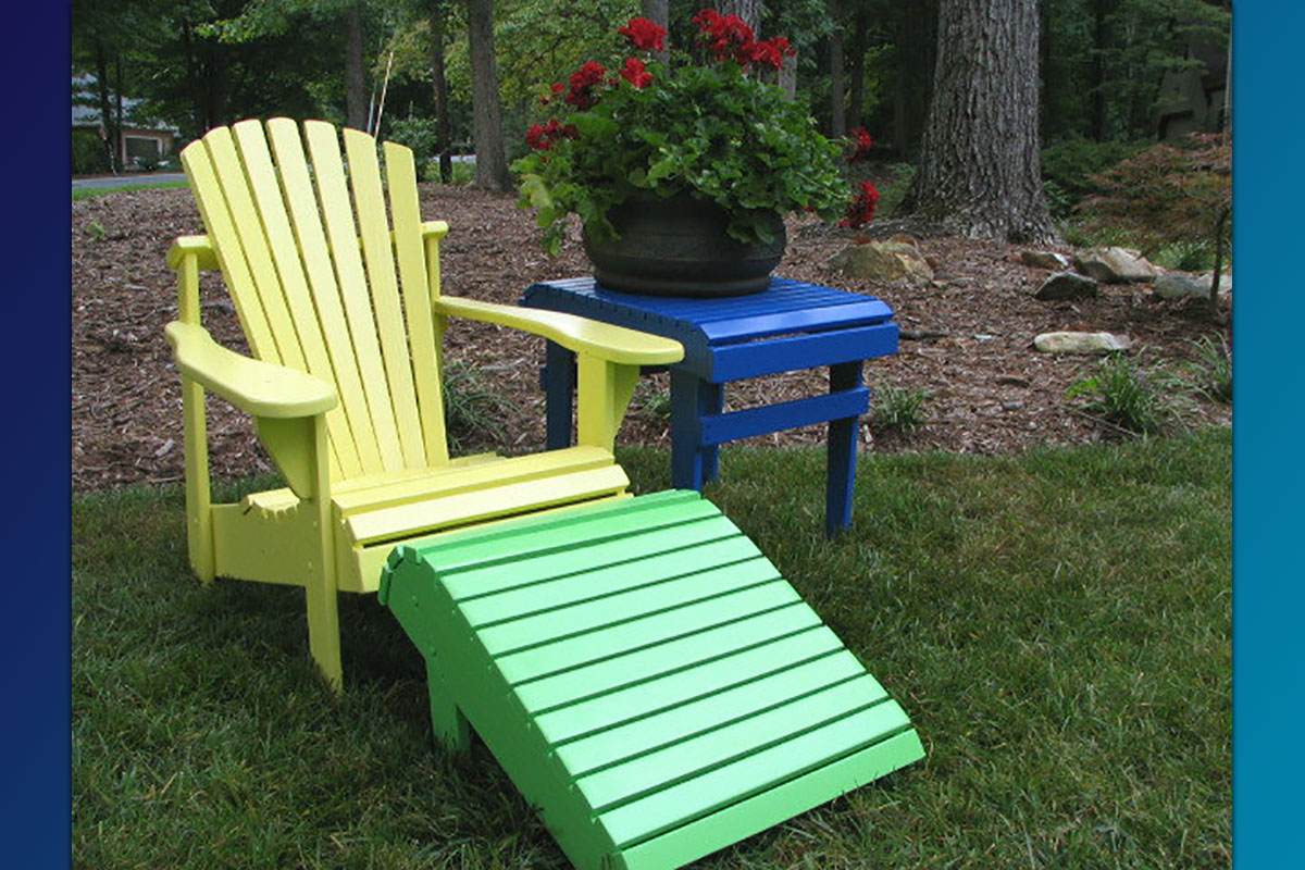 Adirondack Footrest (Painted Series)