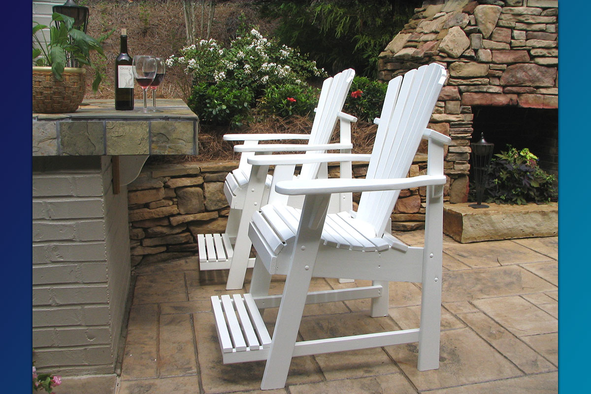 Adirondack Painted Balcony Pub Chair (Painted Series)