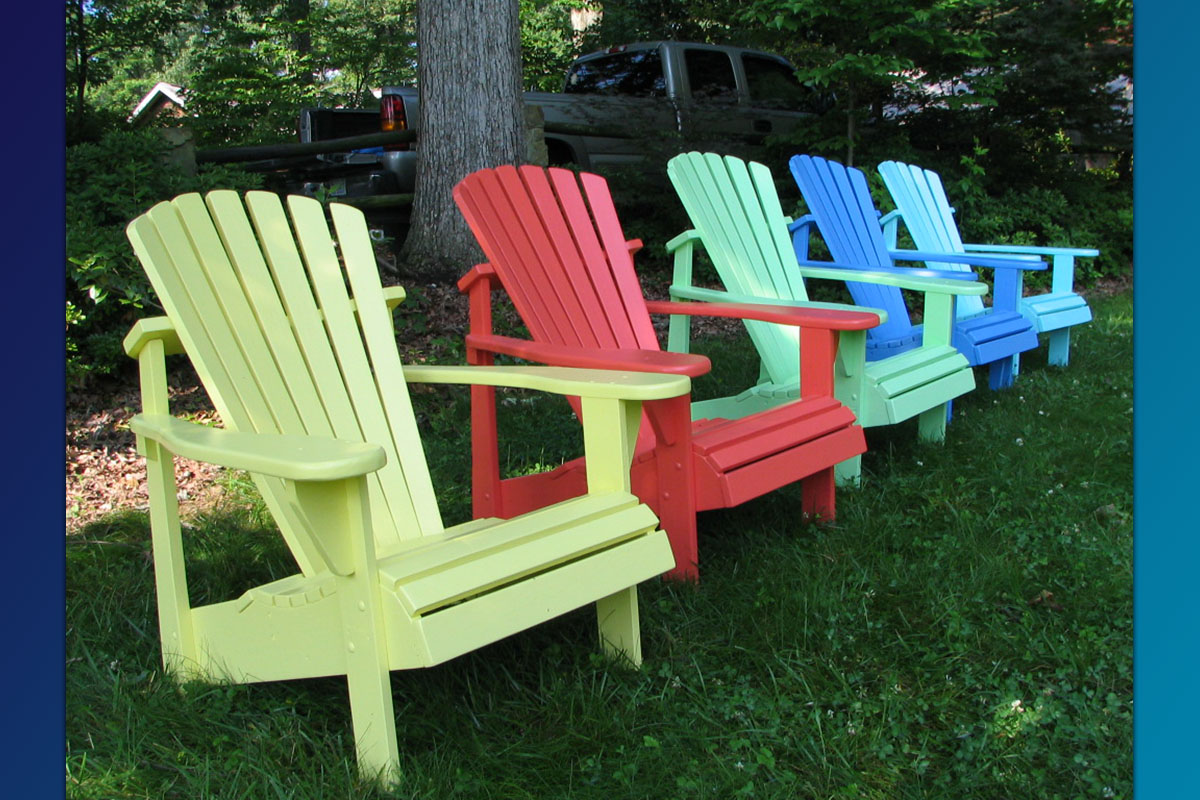 Classic Adirondack Chair Painted Series Great Quality