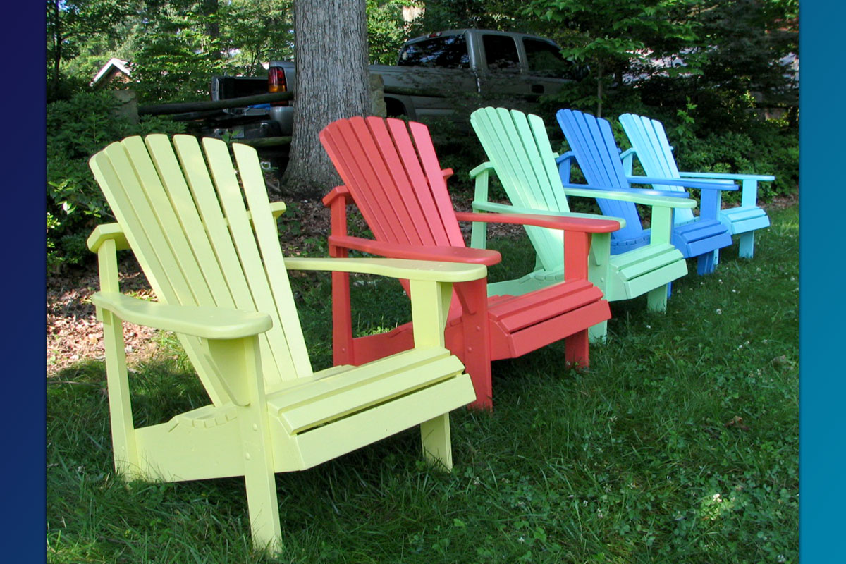 Classic Adirondack Chairs ( Painted Series) - Weathercraft® Outdoor Furniture & Accessories 2018 Celebrating