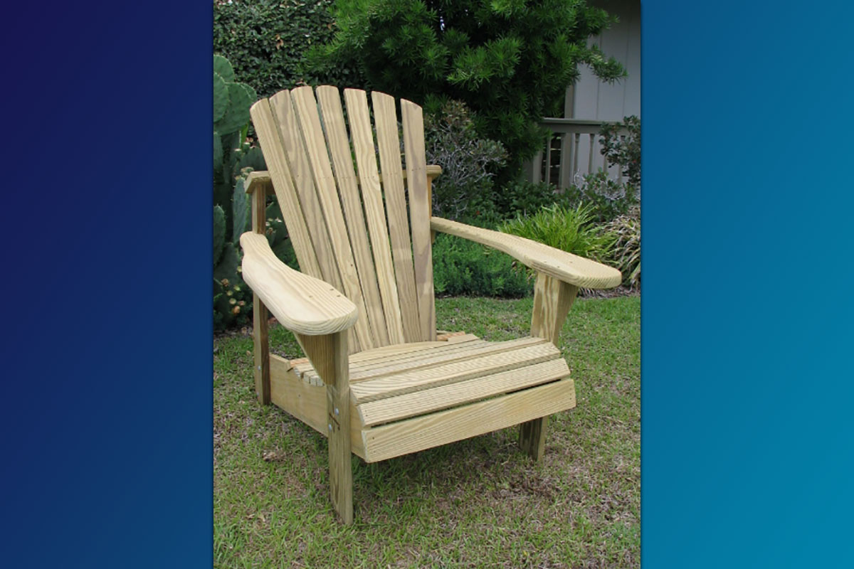 Classic Adirondack Chair (Unfinished Natural)