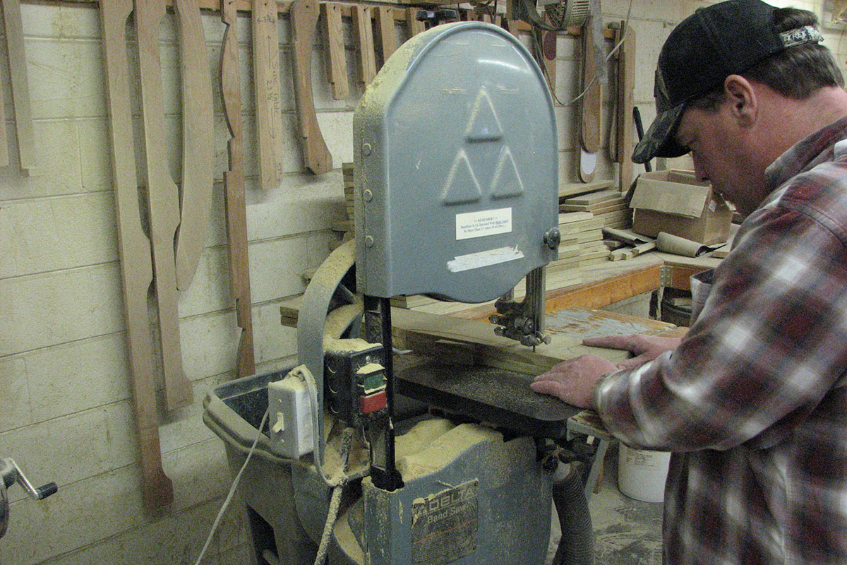 Cutting Parts on Bandsaw