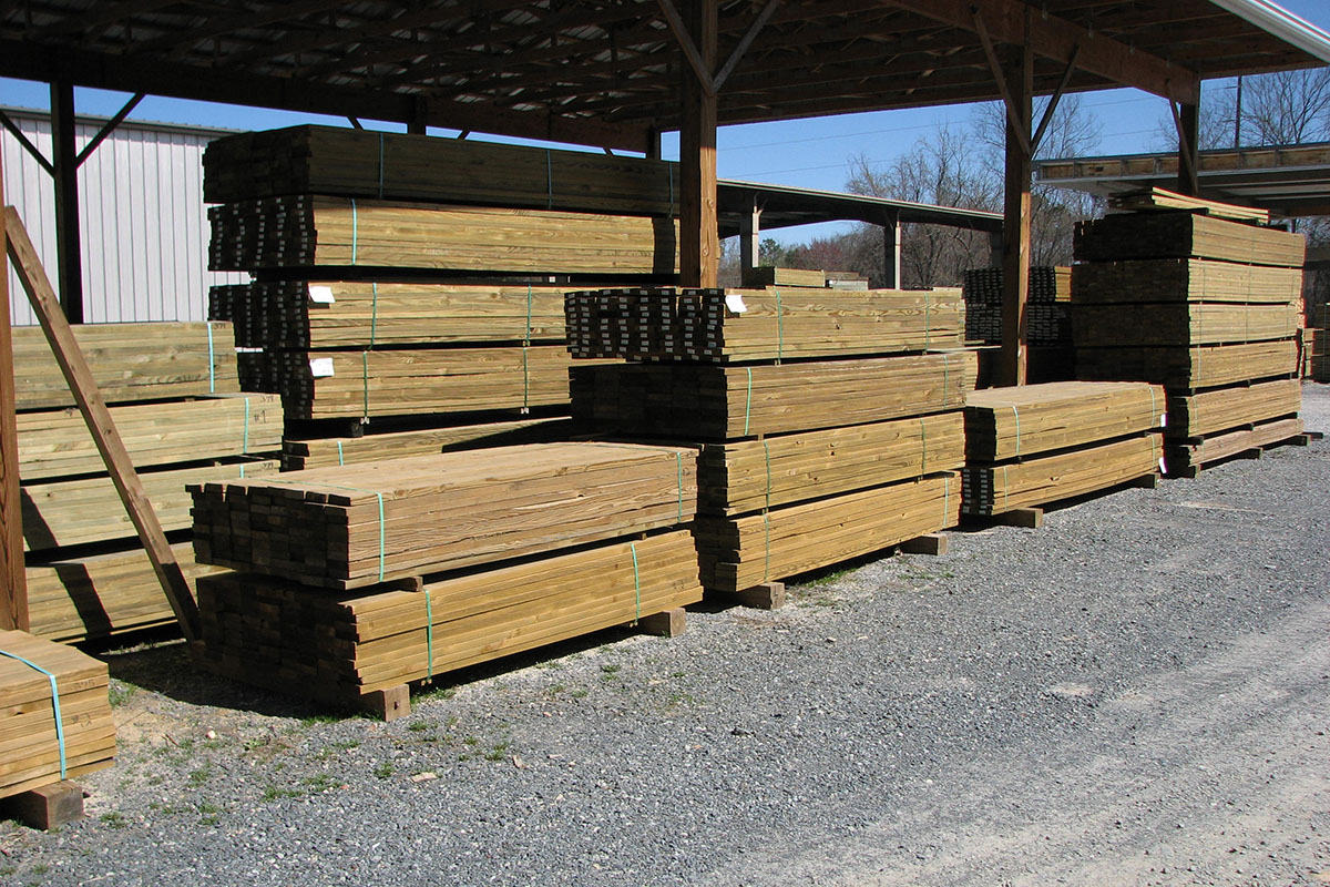 Premium-#1 Select dried pressure treated lumber inventory