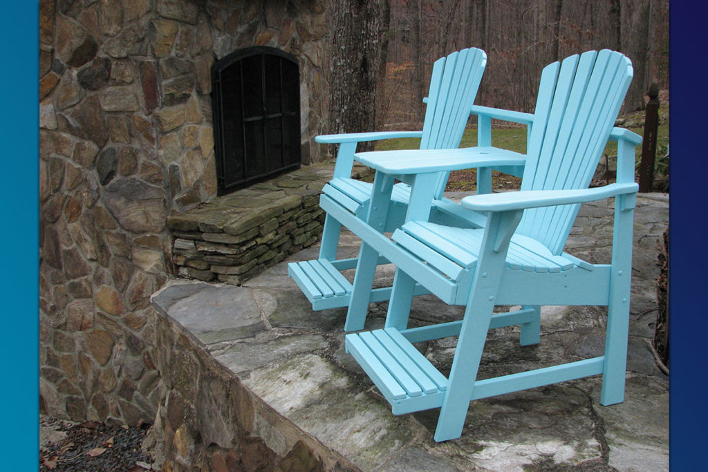 Adirondack Balcony Pub Double Seater (Painted Series)