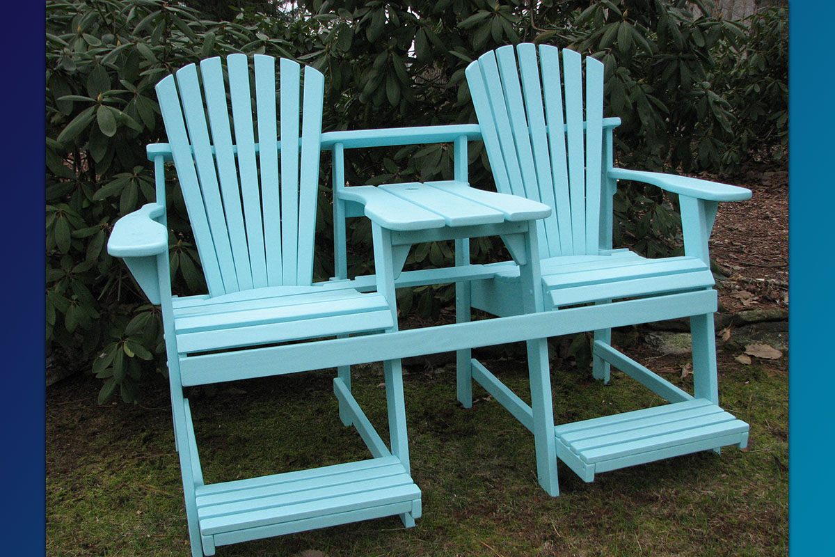 Adirondack Balcony Pub Double Seater (Painted Series)
