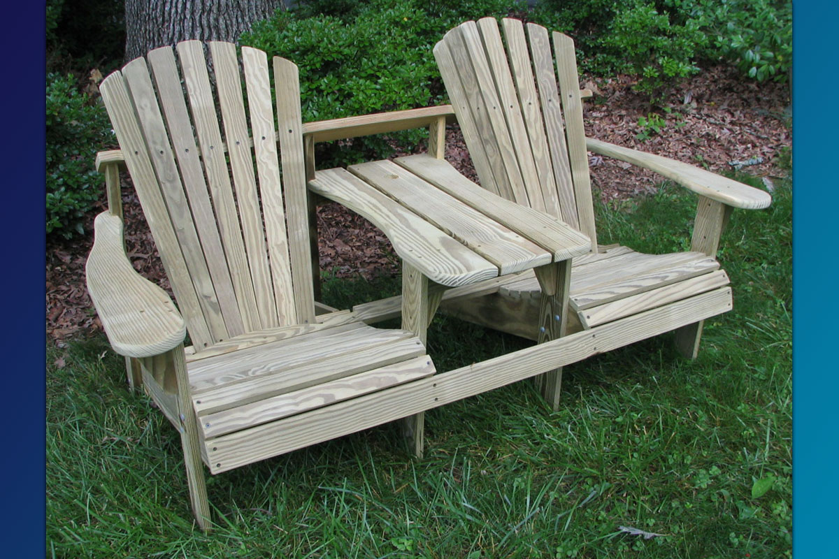 Adirondack Double Seater (Unfinished Natural)
